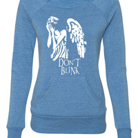 don't blink ladies sweatshirt