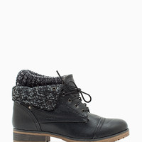 Wynne 01 Pu Cuff Down Combat Boot