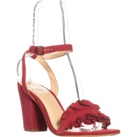 Vince Camuto Vinta Ankle Strap Sandals, Cherry Red, 10 US / 40 EU
