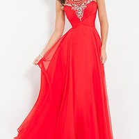 High Neck Rachel Allan Prom Dress
