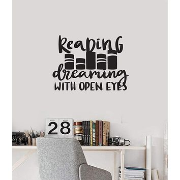 Vinyl Wall Decal Reading Quote Read Book Shop Library Decoration Art Stickers Mural (ig5477)