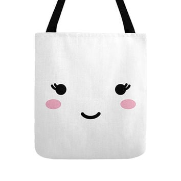 Cute Face Tote Bag, 3 Options, Minimalist Design, Cute Illustration, Black and White, Funny Art, Children Bags, Baby Totes, Nice Eyes, Girls