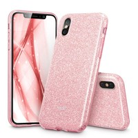 Shinning Protective Bumper Bling Glitter 3Layer Case For Iphone 10 0916-35