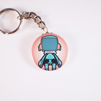 FLCL Canti Button Keychain