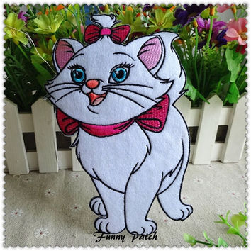 Noble Disney Marie Cat Large Iron on Applique for Girls 127-H