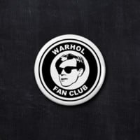 Andy Warhol fan club button