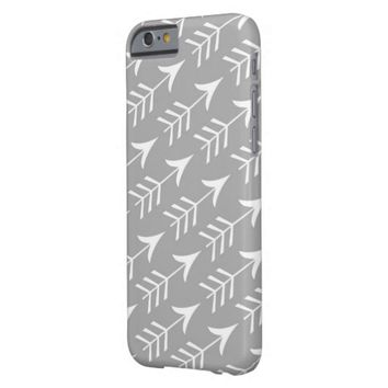 Grey and White Arrows Barely There iPhone 6 Case