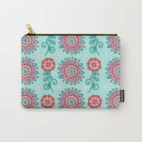 Floral Frost Carry-All Pouch by Sarah Oelerich