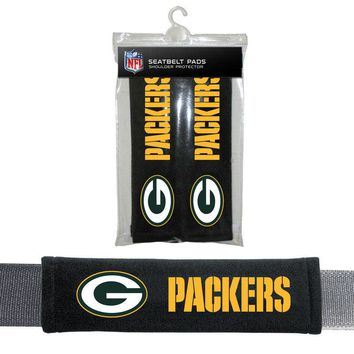 Green Bay Packers Seat Belt Shoulder Pad Covers