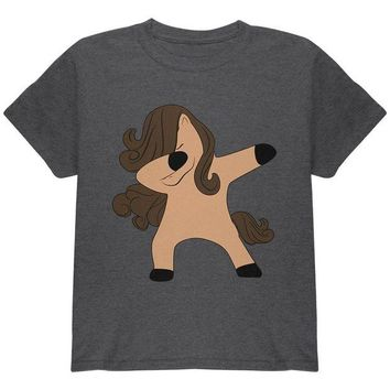 LMFCY8 Dabbing Horse Youth T Shirt