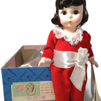 "Madame Alexander Doll - Red Boy 440, Storyland Series, 7.5"" tall, Original Box, Collectible, Original Booklet,"