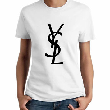 Best ysl shirt products on wanelo for Ysl logo tee shirt