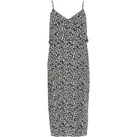 River Island Womens Black and white double layer slip dress