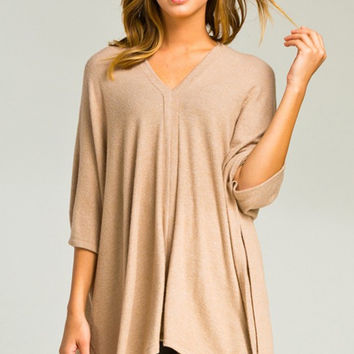 All I Need Oversized Knit in Camel - FINAL SALE