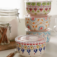 Ceramic Food Storage Bowls Set - Urban Outfitters