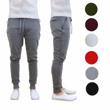 Mens Tech Fleece Jogger Pants Sweatpants Dry Active Cross Run Gym Sports S-XXL