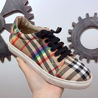 Burberry Women Fashion Old Skool Flats Mules Shoes