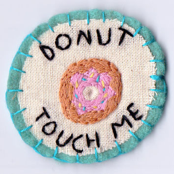 Donut Touch Me Patch
