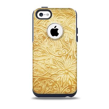 The Vintage Antique Gold Grunge Pattern Skin for the iPhone 5c OtterBox Commuter Case