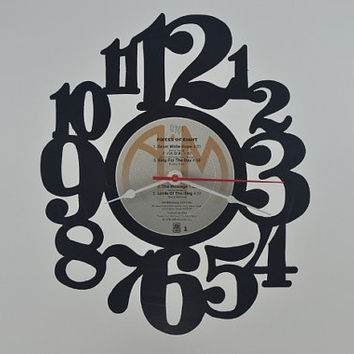Vinyl Record Clock Hanging wall clock  (artist is Styx)