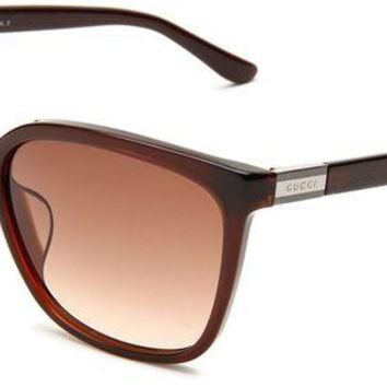 DCK4S2 Gucci Women's GUCCI 3522/F/S Wrap Sunglasses