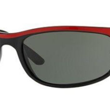 RAY BAN 2027 62 PREDATOR 2 6300 BLACK RED SUNGLASSES BLACK RED G15 LENSES