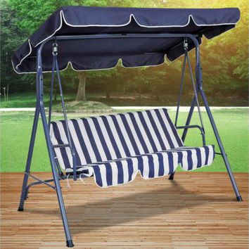 Blue Striped Canopy Swing Chair ( Case of 3 )