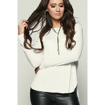 Your Everyday Long Sleeve Top (Ivory)