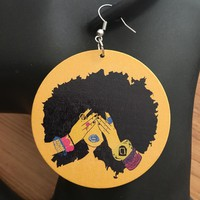 Afro African Girl Earrings