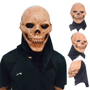 New Design Skull Masks Halloween Costume Party Supplies Breathable Latex Full Head Face Mask