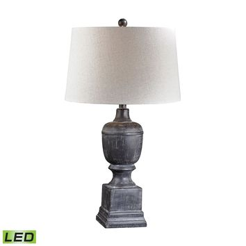 Black Ash Column LED Table Lamp