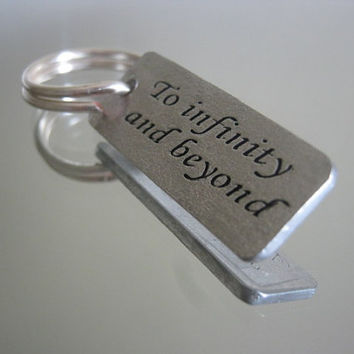To infinity and beyond, Disney, personalized gifts, personalized jewelry, keychain, gifts for best friends, mens gift, valentines day