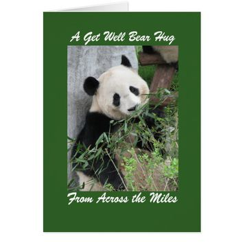 Panda Get Well Bear Hug Across the Miles Card