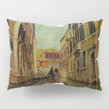 Venice, Italy Canal Gondola View Pillow Sham by Theresa Campbell D'August Art
