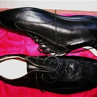 BATA AIR  MEN SHOES BLACK LEATHER LACE UP OXFORDS  !SIZE 9 M /43! MADE IN ITALY