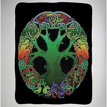 Tree of Life Fleece Blanket - Spencer's