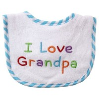 Luvable Friends I Love - Embroidered Drooler Bib, Green-Grandpa