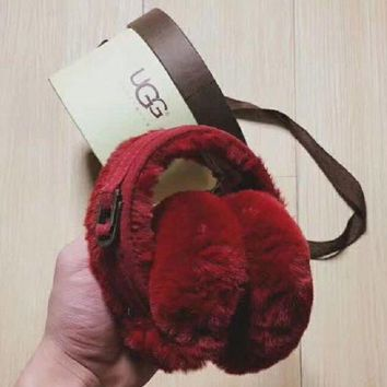 UGG Trending Women Men Casual Winter Warm Earmuff Red I