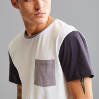 UO Standard Fit Colorblock Pocket Tee | Urban Outfitters