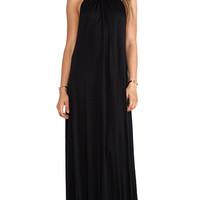 Michael Lauren Pedro Maxi Halter Dress in Black