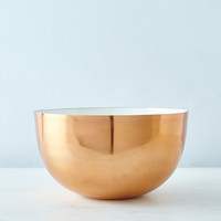 Copper, Brass, and Enamel Louise Bowls