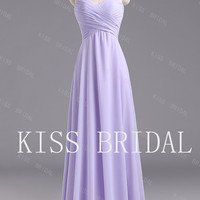 A-line  Sweetheart  Sleeveless Floor-length Elegant  Simple Chiffon   Prom Dress 2013