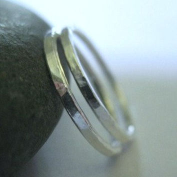 Silver Stack Rings Skinny Bands Pinky Stacking Ring Size 4