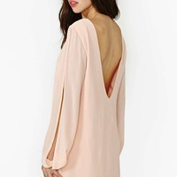 Nasty Gal Dance Closer Dress - Blush