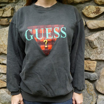 Vintage Guess Triangle Question Mark Sweatshirt