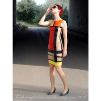 Mondrian Dress from latex - an hommage to YSL