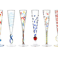 ROSSINI FLUTES - SET OF 6 | Stemware, Wedding Gift, Celebration, Glassware, Champagne Glass, Party | UncommonGoods