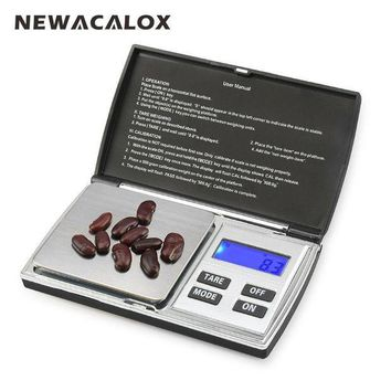 CREYLD1 NEWACALOX 500g x 0.01g Digital Precision Scales for Gold Jewelry Scale 0.01 Pocket Balance Electronic Stainless Steel Scales
