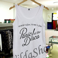 Panic At The Disco - Tanktop Unisex Adult S-XL