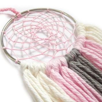 Baby Girl Nursery Dream Catcher Pink Dream Catcher Cream Dream Catcher Gray Dream Catcher Wall Hanging Small Dream Catcher Baby Crib Mobile